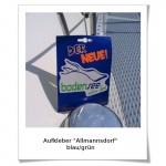 Aufkleber Allmannsdorf blau-gruen