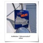 Aufkleber Allmannsdorf silber